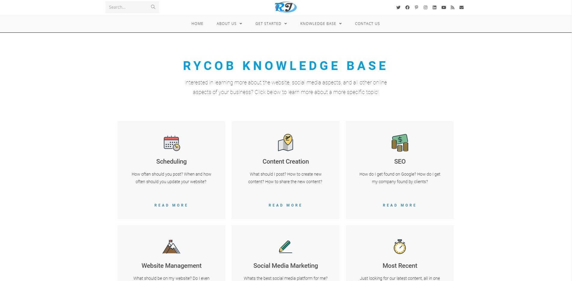 Rycob Media Knowledge Base Page