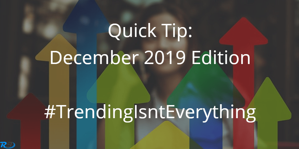 quick tip of the month - december