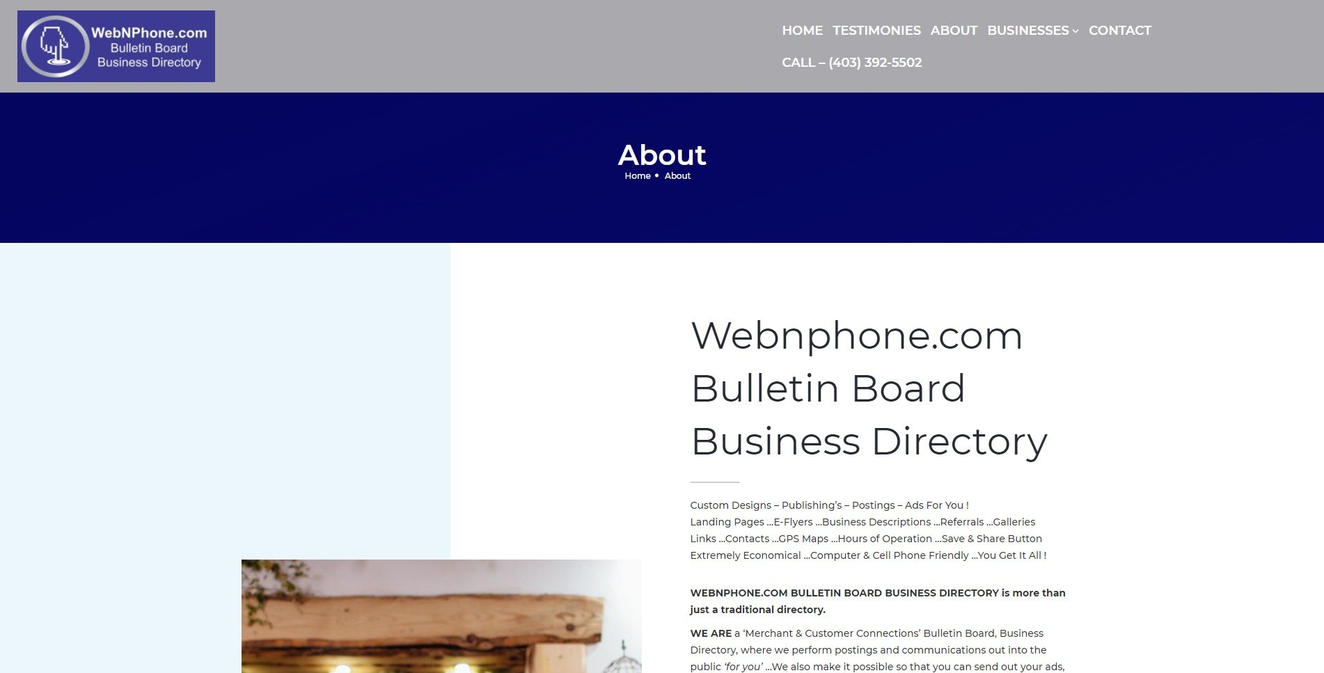 WebNPhone About Page