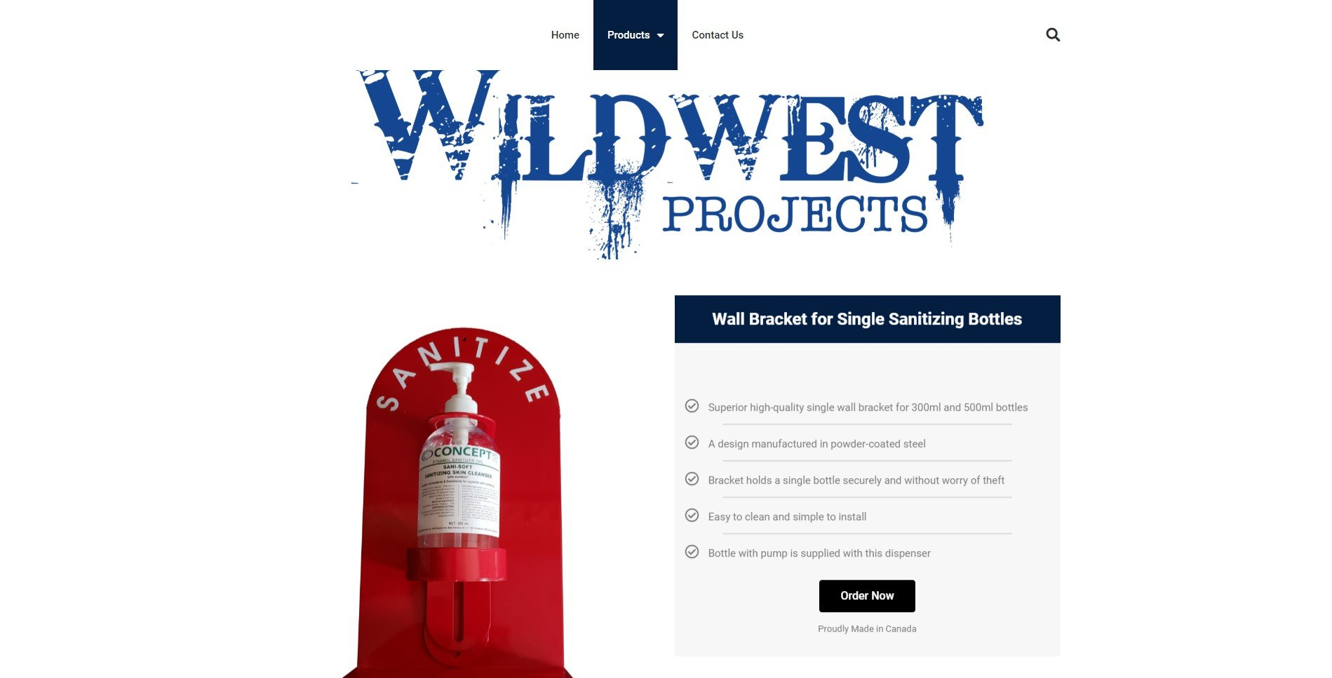 Wild West Projects product page