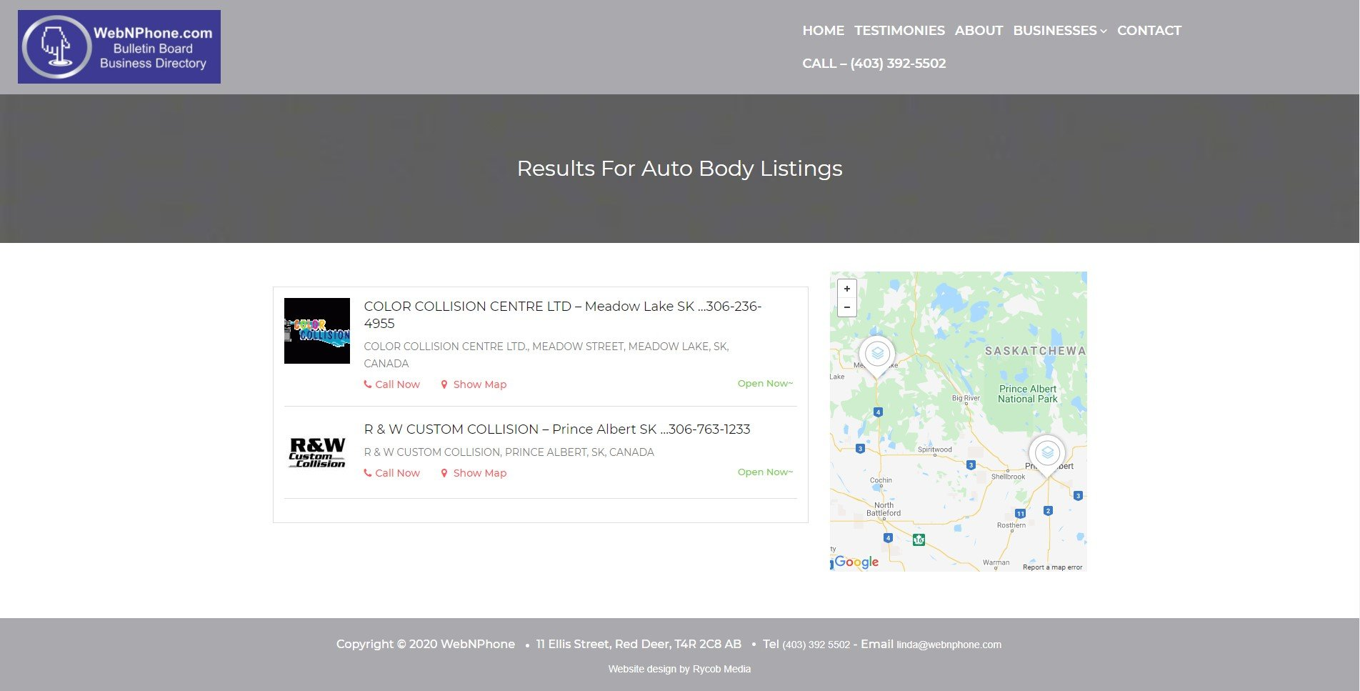 WebNPhone Directory Page