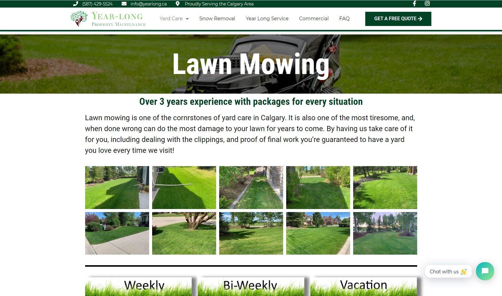 Yearlong Lawn Mowing Screenshot